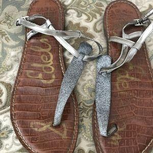 Sam Edelman Gigi Glitter T-strap Sandal, 10